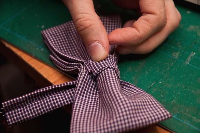 Как сшить двойную бабочку галстук своими руками7